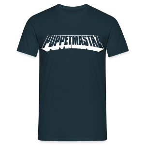 Puppetmastaz Logo Navy/White - Men's T-Shirt
