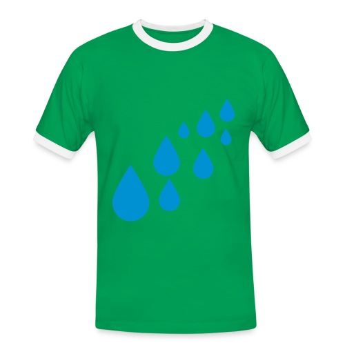 Vihreä paita - Miesten kontrastipaita