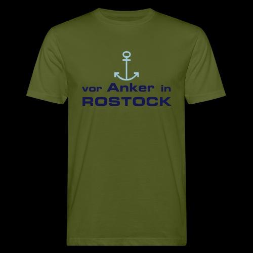 Vor Anker in Rostock - Männer Bio-T-Shirt
