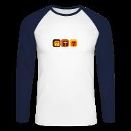 Langarmshirts ~ Männer Baseballshirt langarm ~ Shroom Lounge - Langärmeliges Baseballshirt