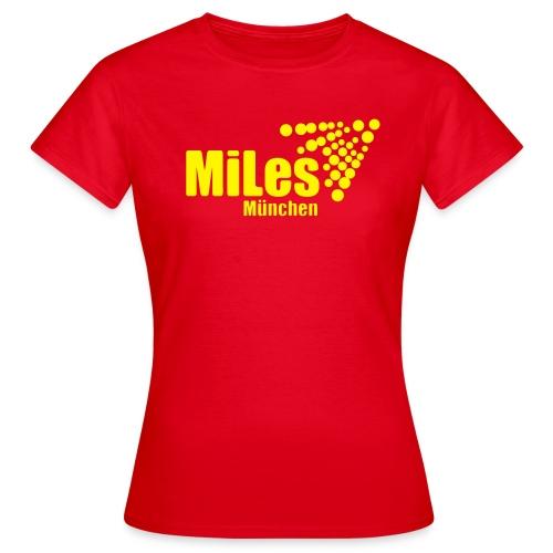 Klassisches Frauen-T-Shirt mit Web-Adresse UNTEN auf dem Rücken - Frauen T-Shirt