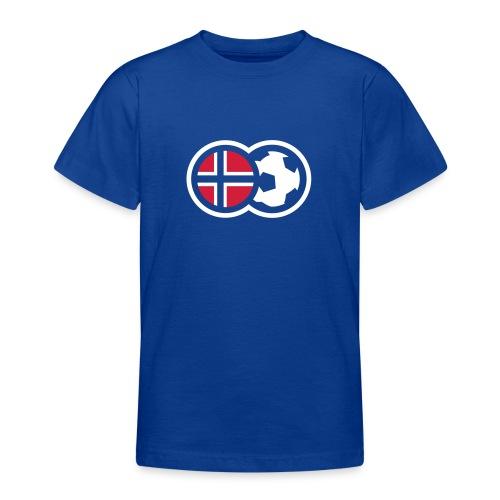 Norsk fotball - T-skjorte for tenåringer