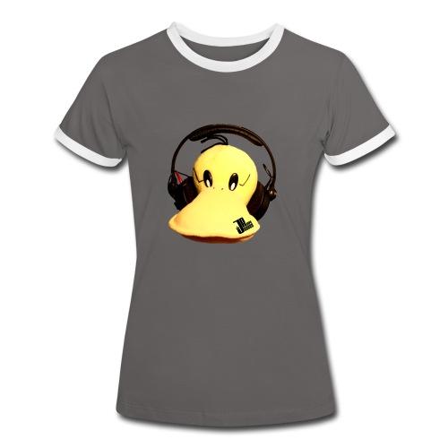 Jaques Raupé Ente  - Frauen Kontrast-T-Shirt