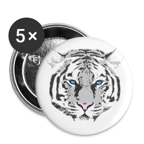 White Tiger - Buttons medium 1.26/32 mm (5-pack)