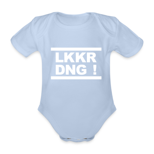 Rompertje met tekst LKKR DNG! ( Lekker ding ) - Baby bio-rompertje met korte mouwen