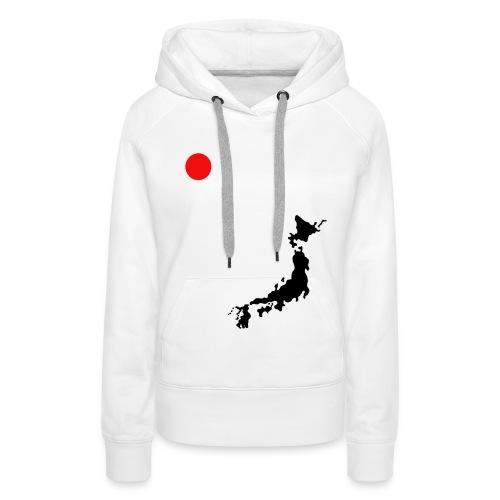 Felpa - Japan Love - Felpa con cappuccio premium da donna