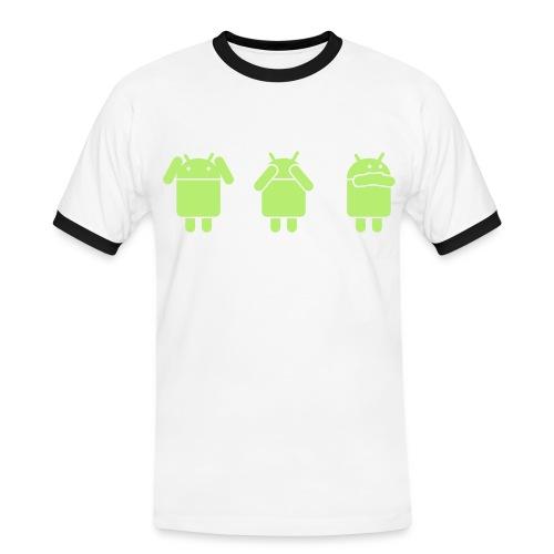 androidgodWorks - Maglietta Contrast da uomo
