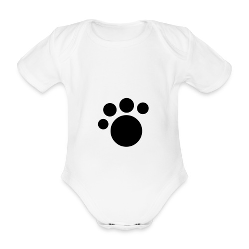 Paw Baby One-Piece - Organic Short-sleeved Baby Bodysuit