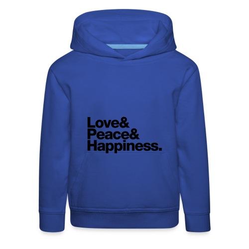 Love Peace Happiness Hoodie - Kids' Premium Hoodie
