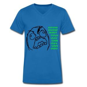 Fuuu... - Männer Bio-T-Shirt mit V-Ausschnitt von Stanley & Stella