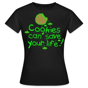 lady black cookie - Women's T-Shirt