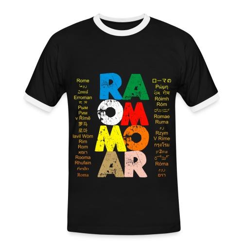 Roma - Maglietta Contrast da uomo