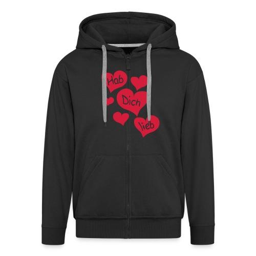 Liebeserklärung - Männer Premium Kapuzenjacke