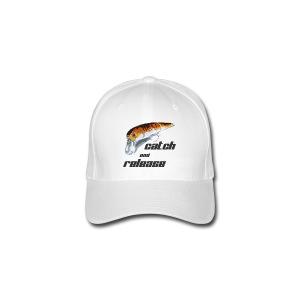 Flexfit Baseballkappe - angel,angel-shirts.de.vu,angeln,fische,fischen,fish,fishing,fun,funny,klamotten,shop,t-shirt