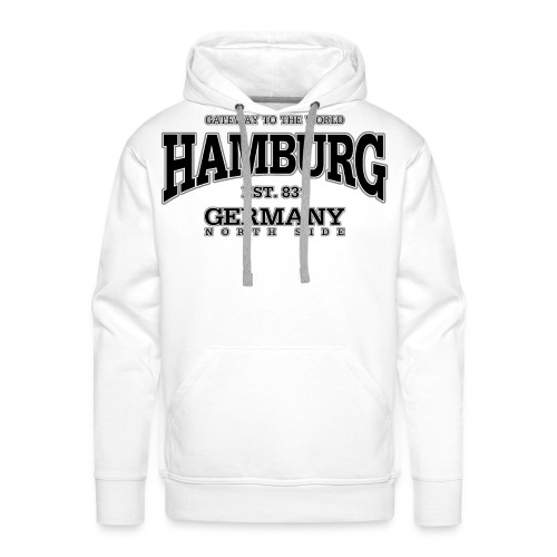 Männer Premium Hoodie - Hamburg,angel,angel-shirts.de.vu,angeln,fische,fischen,fish,fishing,fun,funny,klamotten,shop,t-shirt,the-kingfishers