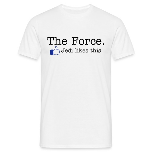 Facebook - The Force. Jedi likes this - Männer T-Shirt