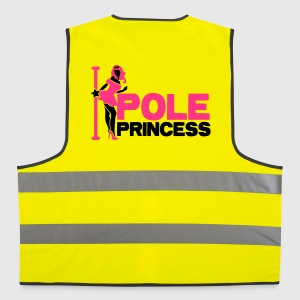 pole princess with dancing lady and a pole in high heels Jackets & Vests - Reflective Vest