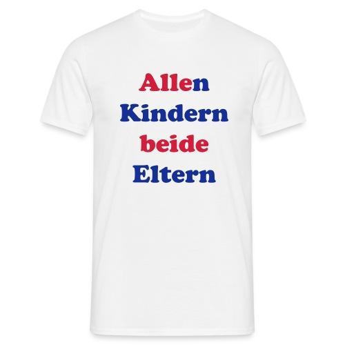 Männer T-Shirt Allen Kindern beide Eltern URL Rücken - Männer T-Shirt
