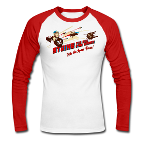 Join the Space Force! (Vintageprint) - Men's Long Sleeve Baseball T-Shirt