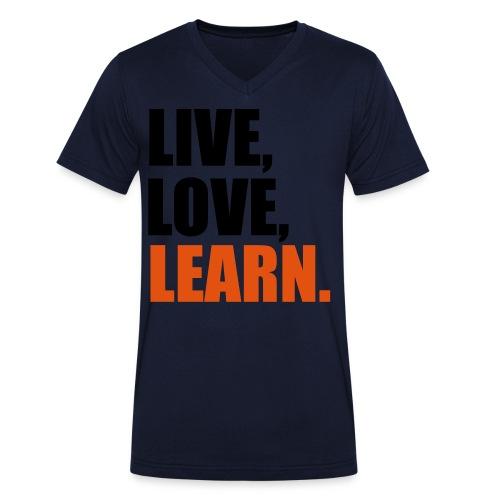 Live, Love, Learn - Mannen bio T-shirt met V-hals van Stanley & Stella