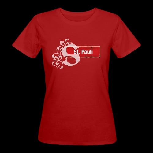 HH-St.Pauli-Schild mit Schmuck-Initial - Frauen Bio-T-Shirt