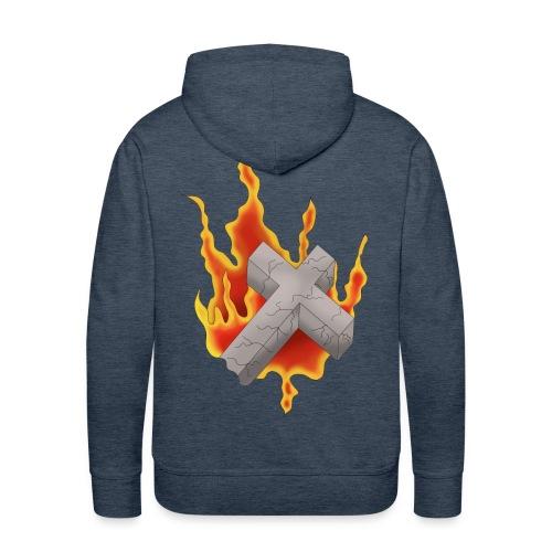 Flammender Grabstein - Männer Premium Hoodie