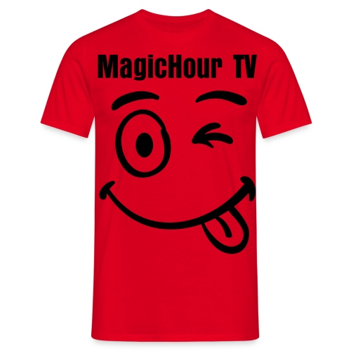 MagicHour TV Smiley - Men's T-Shirt