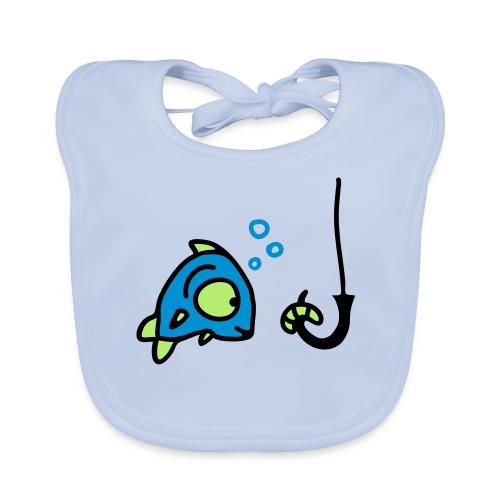 Baby Bio-Lätzchen - angel,angel-shirts.de.vu,angeln,angeln in hamburg,fische,fischen,fish,fishing,fun,funny,klamotten,shop,t-shirt,the-kingfishers.de