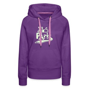 je like Paris tattoo et la tour Eiffel Sweat-shirts - Sweat-shirt à capuche Premium pour femmes