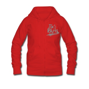 je like Paris tattoo et la tour Eiffel Sweat-shirts - Veste à capuche Premium Femme