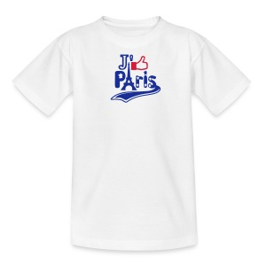 je like Paris tattoo et la tour Eiffel Tee shirts Enfants - T-shirt Ado