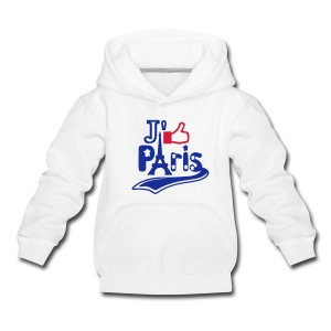 je like Paris tattoo et la tour Eiffel Sweats Enfants - Pull à capuche Premium Enfant