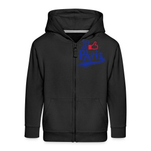 je like Paris tattoo et la tour Eiffel Sweats Enfants - Veste à capuche Premium Enfant