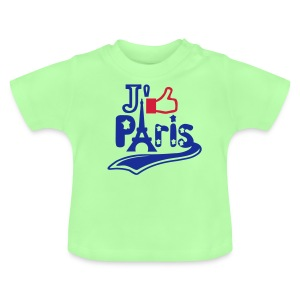 je like Paris tattoo et la tour Eiffel Tee shirts Bébés - T-shirt Bébé
