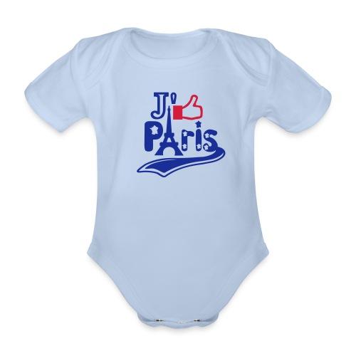 je like Paris tattoo et la tour Eiffel Tee shirts Bébés - Body bébé bio manches courtes