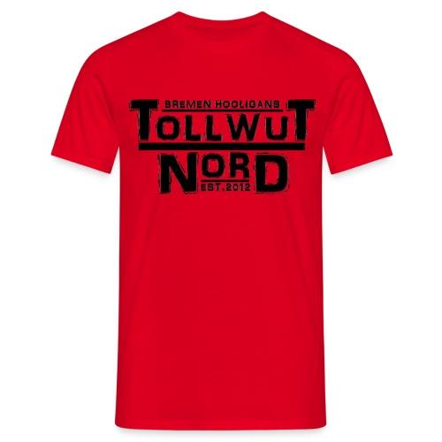 TOLLWUT NORD BREMEN HOOLIGANS SUPPORT Männer T-Shirt (Rot) - Männer T-Shirt