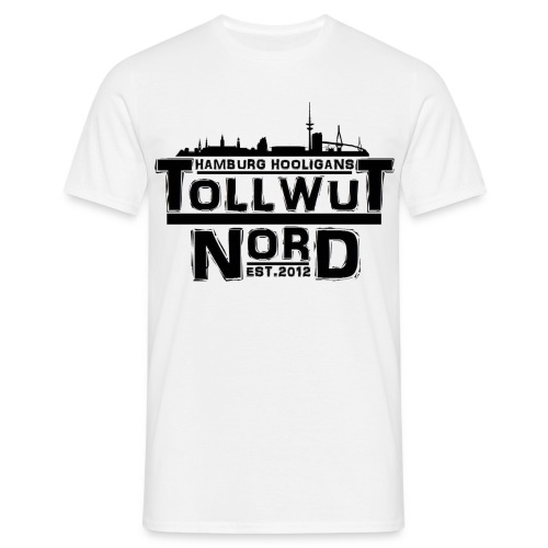 TOLLWUT NORD HAMBURG HOOLIGANS LOGO T-Shirt (Weiß) - Männer T-Shirt