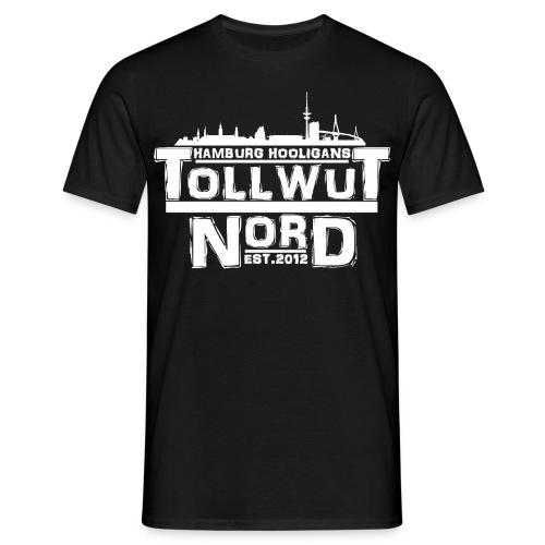 TOLLWUT NORD HAMBURG HOOLIGANS LOGO T-Shirt (Schwarz) - Männer T-Shirt