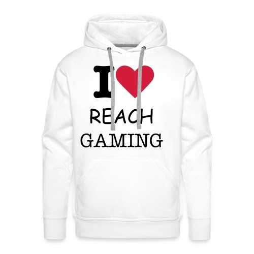 Pull Blanc I LOVE REACH GAMING - Sweat-shirt à capuche Premium pour hommes