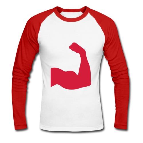 T-shirt man (sterk) - Mannen baseballshirt lange mouw