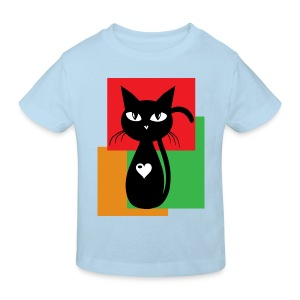 Kinder T-shirts Black cat - Kinder Bio-T-Shirt
