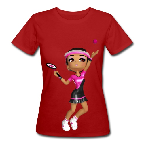 tennis girl 2 - Frauen Bio-T-Shirt