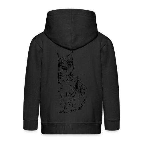tier t-shirt luchs lynx cougar wild cat katze raubtier löwe tiger wolf - Kinder Premium Kapuzenjacke