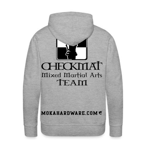 Arte Suave/CheckMat Brazilian Jiu Jitsu Team grå - Herre Premium hættetrøje
