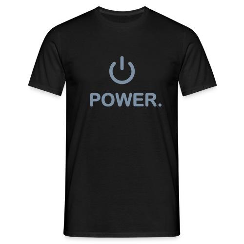 Power Gamer schwarz - Männer T-Shirt