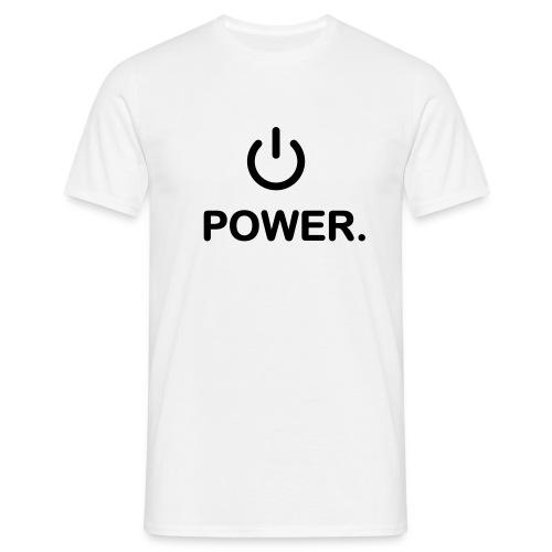 Power Gamer weiß - Männer T-Shirt
