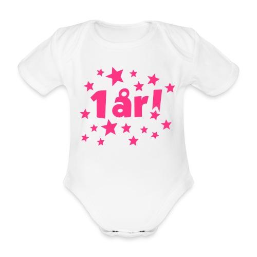 1 år! - Økologisk kortermet baby-body