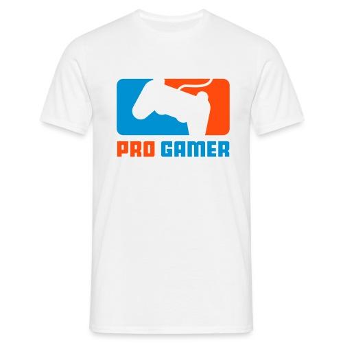 Pro Gamer weiß - Männer T-Shirt