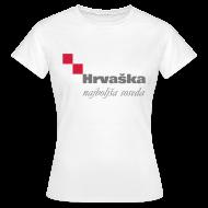 T-Shirts ~ Women's T-Shirt ~ Croatia — The best neighbor (female)