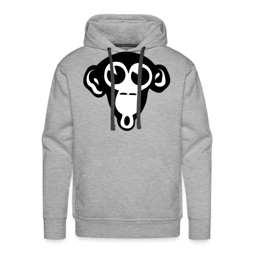 monkey  white - Mannen Premium hoodie